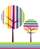 Abstract vector tree. Colorful abstract tree vector illustration Stock Photography