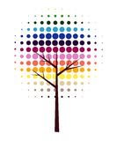 Abstract vector tree. Colorful abstract tree vector illustration Stock Photos