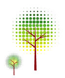 Abstract vector tree. Colorful abstract tree vector illustration Stock Images
