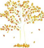 Abstract vector tree autumn Royalty Free Stock Photo