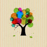 Abstract Vector Tree With Colorful Blob Royalty Free Stock Photography