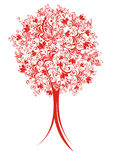 Abstract vector tree with floral elements Royalty Free Stock Image