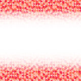 Abstract vector triangle background. Red and white polygonal pattern. Infographic triangular geometry illustration for decoration Stock Photos