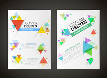 Abstract vector triangle design for flyer Stock Photos