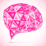 Abstract vector triangles pink idea bubble Stock Photos