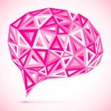 Abstract vector triangles pink idea bubble Stock Photos