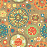 Abstract vector tribal ethnic background pattern - Royalty Free Stock Photography