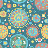 Abstract vector tribal ethnic background pattern - Royalty Free Stock Images