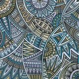 Abstract vector tribal ethnic background pattern Stock Image