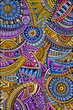 Abstract vector tribal ethnic background pattern Stock Images