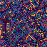 Abstract vector tribal ethnic background pattern Royalty Free Stock Photos
