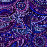 Abstract vector tribal ethnic background pattern Royalty Free Stock Images