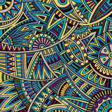 Abstract vector tribal ethnic background pattern Stock Photography