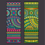 Abstract vector tribal ethnic background set. Stock Photography