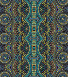 Abstract vector tribal ethnic bseamless pattern Stock Images