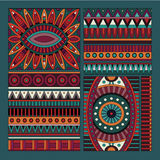 Abstract vector tribal ethnic design elements Royalty Free Stock Photography