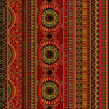 Abstract vector tribal ethnic seamless pattern Royalty Free Stock Photo