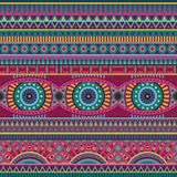 Abstract vector tribal ethnic seamless pattern Royalty Free Stock Image