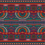 Abstract vector tribal ethnic seamless pattern Stock Photography