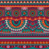 Abstract vector tribal ethnic seamless pattern Royalty Free Stock Photos