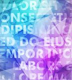 Abstract vector typography background Stock Images