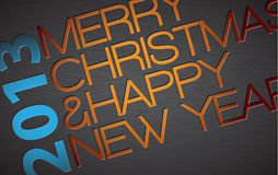 Abstract vector typography Christmas card. Season words Royalty Free Stock Photography