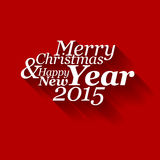 Abstract vector typography Christmas card Stock Photos