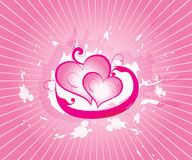 Abstract vector valentine Royalty Free Stock Photos