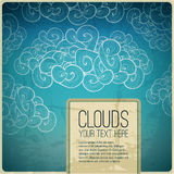 Abstract vector vintage banner. Blue sky retro Royalty Free Stock Images