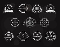 Abstract vector vintage logo design elements set Stock Images