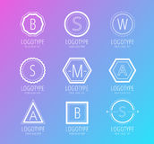 Abstract vector vintage logo design elements set Royalty Free Stock Image