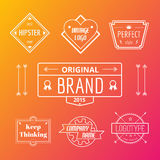 Abstract vector vintage logo design elements set Stock Image
