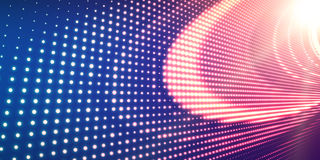Abstract vector violet background with shining neon lights. Neon sign with abstract image in perspective. Stock Photography
