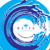Abstract vector water splash background, vector illustration mad Royalty Free Stock Photography