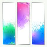 Abstract Vector Watercolor Headers Royalty Free Stock Photos