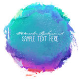 Abstract vector watercolor spot background. Abstract artistic elegant classic vector watercolor spot hand painted background. Copy text template. Spring summer Royalty Free Stock Photos