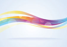 Abstract vector wave background Royalty Free Stock Photo
