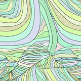 Abstract vector wave background template Royalty Free Stock Images