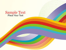 A abstract vector waves illustration. A classical rainbow vector waves royalty free illustration