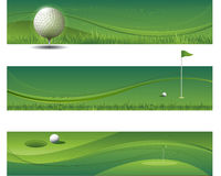 Abstract vector waving golf background Royalty Free Stock Photo