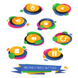 Abstract vector web music buttons Royalty Free Stock Photo