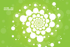 Abstract Vector White transform spiral effect on green background. Abstract Vector: White transform spiral effect on green background for business presentation Stock Images