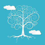 Abstract Vector White Tree Illustration Stock Images