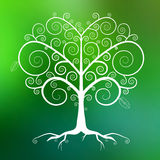 Abstract Vector White Tree Illustration Royalty Free Stock Images