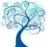 Abstract vector winter tree de. Beautiful abstract vector winter tree design Royalty Free Stock Photos