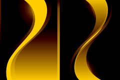 Abstract Vector Yellow Brown Wavy Shaded Background Stock Photos