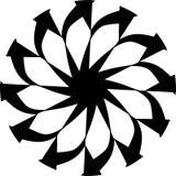 Abstract Vector Zwart-wit Mandala-ornament, ster, de illustratie van bloembloemblaadjes royalty-vrije illustratie
