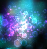 Abstract vectoral space background. Abstract vectoral background with space blured flares Stock Image