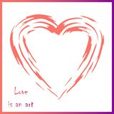 Abstract vectorbeeld met hart in Koraalkleur stock afbeeldingen