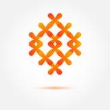 Abstract vectordiepictogram van kruisen wordt gemaakt royalty-vrije illustratie